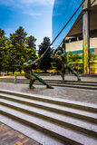 Statues and a modern building in downtown Richmond, Virginia. Stock Images
