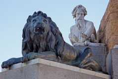 Statues at the Monument to Philip IV of Spain near Royal Palace at Madrid, Spain Stock Images