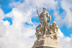 Statues in a monument to Victor Emmanuel II. Rome, Italy Royalty Free Stock Photography