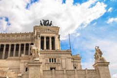 Statues in a monument to Victor Emmanuel II. Rome, Italy Stock Images