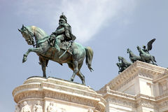 Statues in the Monument of Victor Emmanuel II Royalty Free Stock Photography