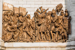 Statues of Moscow Christ the Savior (Saviour) Cathedral Royalty Free Stock Photography
