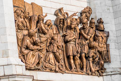 Statues of Moscow Christ the Savior (Saviour) Cathedral Stock Photos