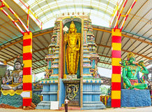 The statues in Murugan Temple Stock Image