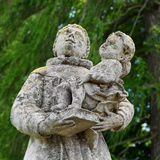 Statues near a Roman Catholic church, Lviv region, Ukraine Royalty Free Stock Photo
