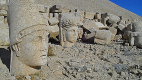 Statues on the Nemrud mountain -Turkey. Stone heads on Mount Nemrut Dagi Turkey. Mount Nemrut is a World Heritage Site by UNESCO since 1987 Stock Image