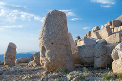 Statues on Nemrut mountain Royalty Free Stock Image