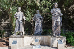 Statues Next to Bodrum Museum of Underwater Archaeology in Mugla. MUGLA , TURKEY - AUGUST 29, 2015: Statues next to Bodrum Museum of Underwater Archaeology in Royalty Free Stock Images