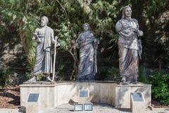 Statues Next to Bodrum Museum of Underwater Archaeology in Mugla, Turkey. MUGLA , TURKEY - AUGUST 29, 2015: Statues next to Bodrum Museum of Underwater royalty free stock images