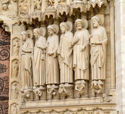Statues in Notre-Dame Royalty Free Stock Images