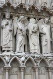Statues of Notre-Dame de Paris Stock Photography