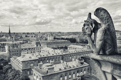 Statues on Notre-Dame in Paris Stock Photography
