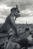 Statues on Notre-Dame in Paris Royalty Free Stock Images