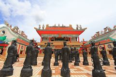 Statues Of Chinese Shaolin Monks Royalty Free Stock Photography