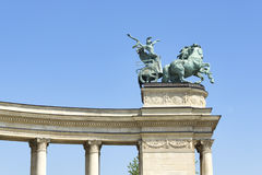 Statues Of The Heroes Square, Budapest Stock Photos