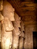 Statues of Osiris, Abu-Simbel Royalty Free Stock Photo
