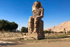 Statues of other Egypt. With the temple monuments megaliths. Statues of other Egypt. With the temple monuments megaliths stock image