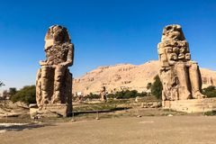 Statues of other Egypt. With the temple monuments megaliths. Statues of other Egypt. With the temple monuments megaliths royalty free stock photo