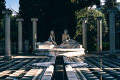 Statues in outdoors garden