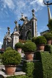 Statues. In the palace garden, Isola Bella, Italy Stock Photography