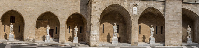 Statues at the Palace of the Grand Master of the Knights in Rhodes Stock Photos