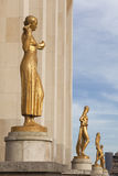 Statues in the Palais Chaillot, Paris Stock Image
