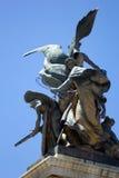 Statues of palazo Vittorio Emanuele. Statue Vittorio Emanuele in Rome,Italy Stock Photo