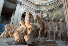 Statues of the pantheon in Paris Royalty Free Stock Image