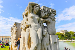 Statues of Paris Stock Photography