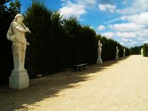 Statues in a park. Antique statues in a park Stock Photography