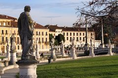Statues in the Park of Prato della Valle Padova Royalty Free Stock Photography