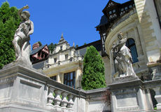Statues in Pelisor Palace in Sinaia, Romania Stock Image