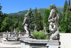 Statues in Pelisor Palace in Sinaia, Romania Royalty Free Stock Photography