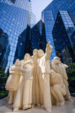 Statues of people of color butter  Royalty Free Stock Photo