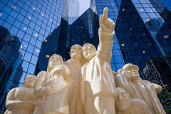 Statues of people of color butter  Royalty Free Stock Images