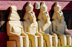 Statues of pharaohs Stock Images