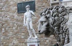 Statues in piazza della signoria, Florence, Italy. A view in FLORENCE, ITALY, OCTOBER 27, 2015 : Statues in piazza della signoria, october 27, 2015 in Florence Stock Image