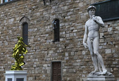 Statues in piazza della signoria, Florence, Italy. A view in FLORENCE, ITALY, OCTOBER 27, 2015 : Statues in piazza della signoria, october 27, 2015 in Florence Stock Photos