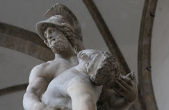 Statues in piazza della signoria, Florence, Italy Stock Photo