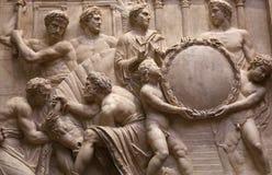 Statues in piazza della signoria, Florence, Italy. A view in FLORENCE, ITALY, OCTOBER 27, 2015 : Statues in piazza della signoria, october 27, 2015 in Florence Stock Photo