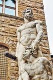 Statues in Piazza della Signoria, Italy Stock Photos