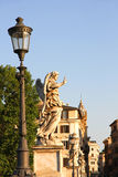 Statues on the Ponte Sant Angelo Stock Photos