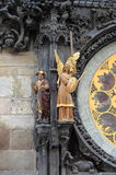Statues of Prague Astronomical Clock Stock Image