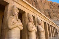 Statues of Queen Hatshepsut in Luxor (Thebes), Egypt. Royalty Free Stock Photography