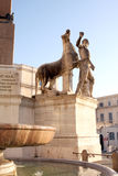 Statues of Quirinal Palace Rome Italy Royalty Free Stock Photos