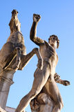 Statues of Quirinal Palace Rome Italy Stock Photo