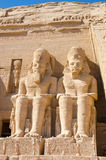 Statues of Ramesses II at Abu Simbel, Egypt. Statues of Ramesses II at the Great Temple of Abu Simbel, Egypt Royalty Free Stock Image