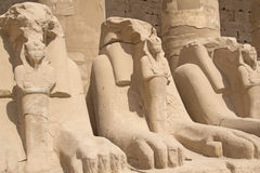 Statues of Rams at Karnak Temple ( Luxor, Egypt). Royalty Free Stock Image
