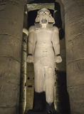 Statues of Ramses II at Luxor Temple at night Royalty Free Stock Photos