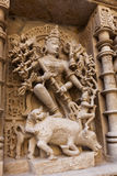 Statues at the Rani Ki Vav Step Well Royalty Free Stock Images